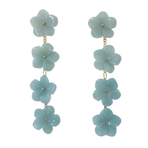 The Mini Collection Tradd Street Charleston Multi-Flower Drop Earrings