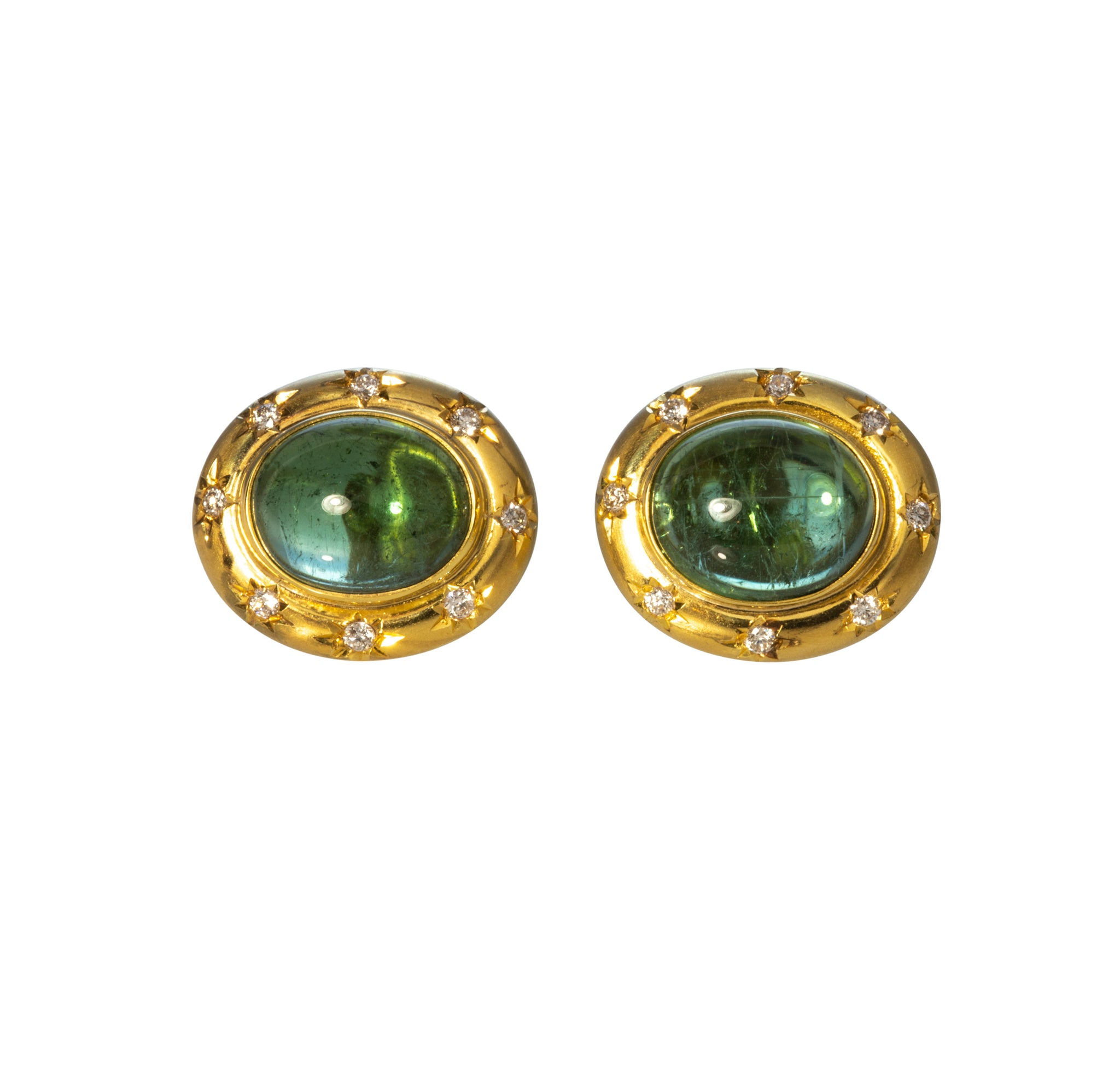 Mazza Green Tourmaline & Diamond 14K Gold Earrings