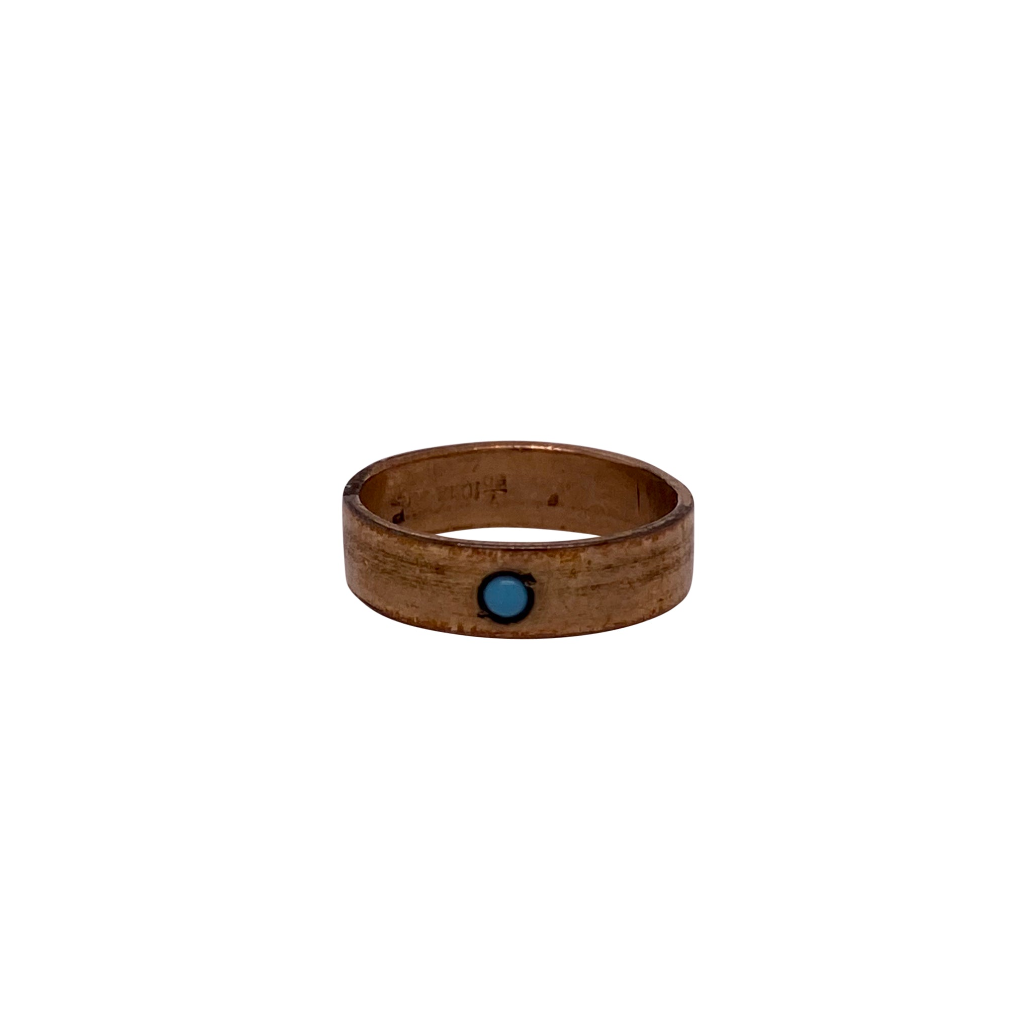 Estate Turquoise 10K Gold Baby Band