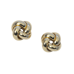 Italian 14K Yellow Gold Knot Stud Earrings