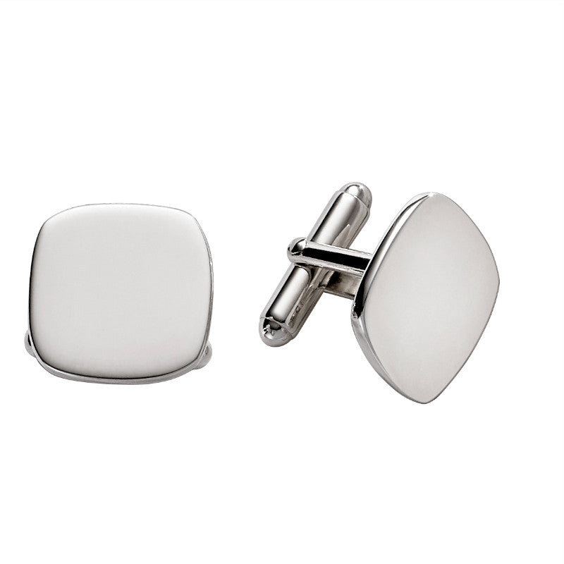 Sterling Silver Cushion Cufflinks