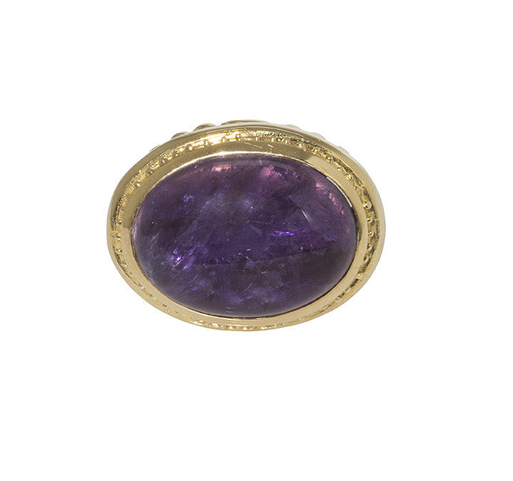 Dudley VanDyke Fluted Swirl Fob with Purple Amethyst
