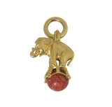 Dudley VanDyke Silver or Gold Elephant Fob with Sponge Coral
