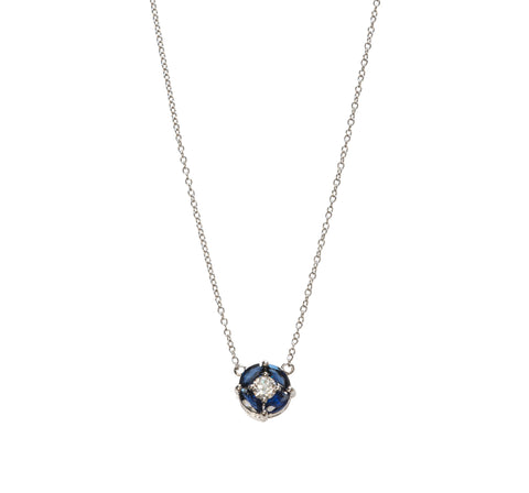 Sapphire and Diamond Pendant Necklace