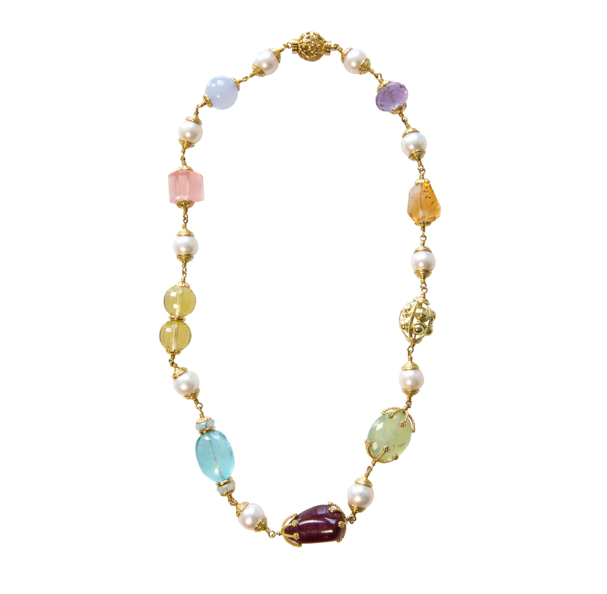 Seaman Schepps Multi Baroque Necklace