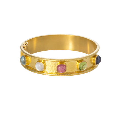 Elizabeth Locke Tutti Frutti Studded Bangle