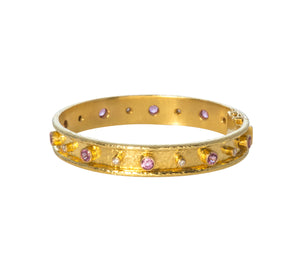 Elizabeth Locke Pink Sapphire & Diamond Bangle