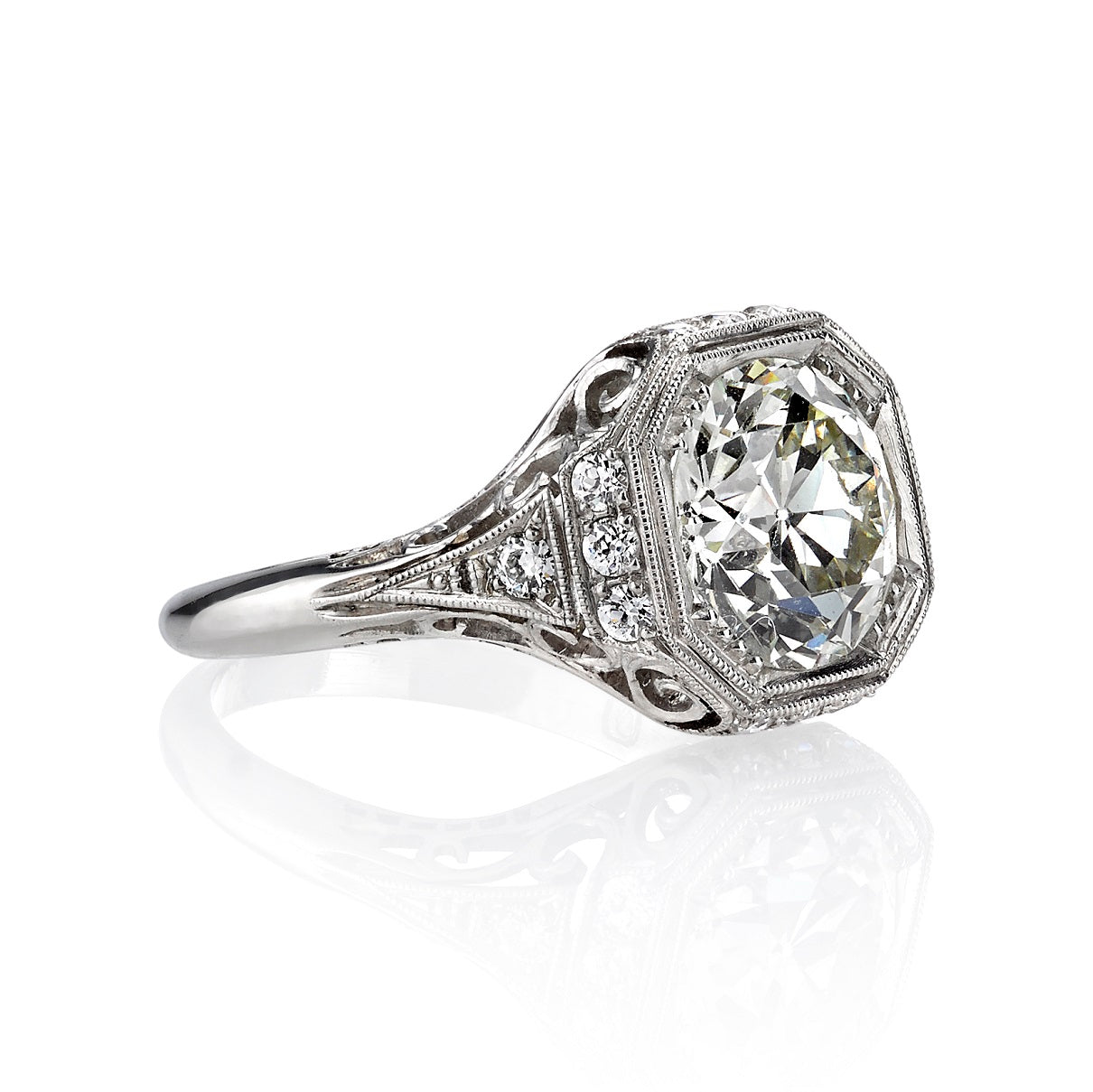 Single Stone Platinum Whitney Ring