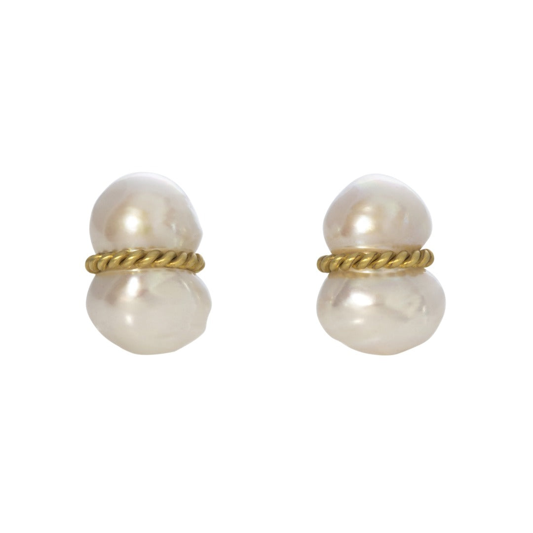 Mazza Peanut Pearl Earrings