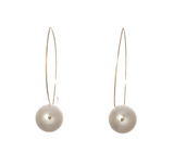 Mizuki Sea of Beauty Marquis White Pearl Earrings