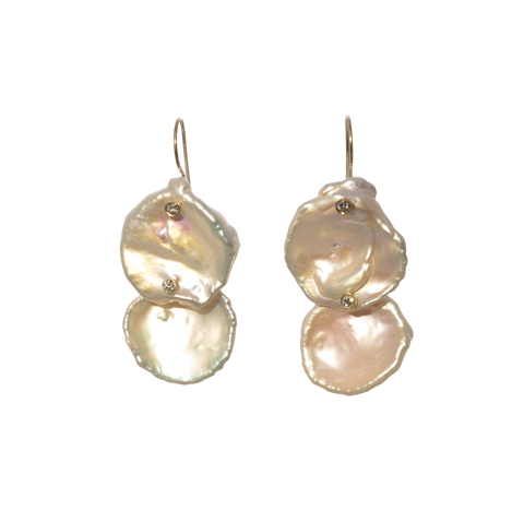 Mizuki Sea of Beauty Pearl Petal Drop Earrings