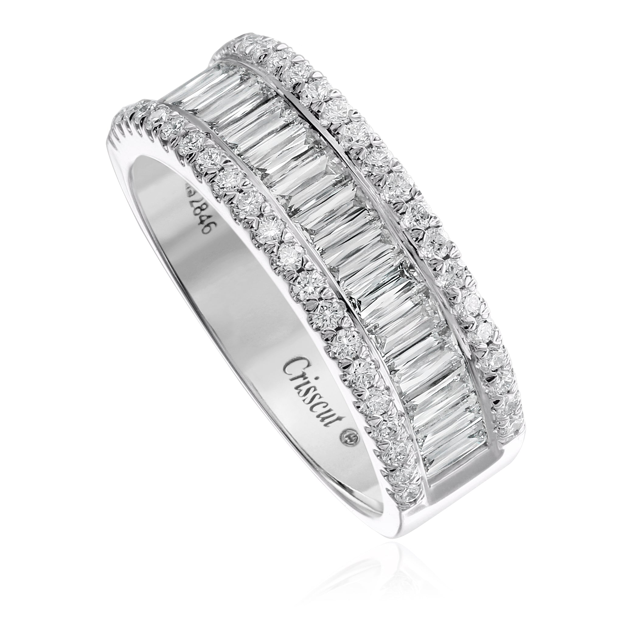 Christopher Designs Crisscut Diamond Wide Band