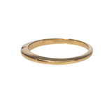 14K Yellow Gold Notched Wedding Band