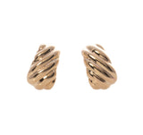 Italian 14K Gold Huggie Earrings