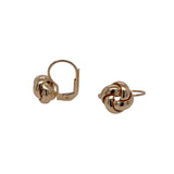 Italian 14K Gold Love Knot Leverback Earrings