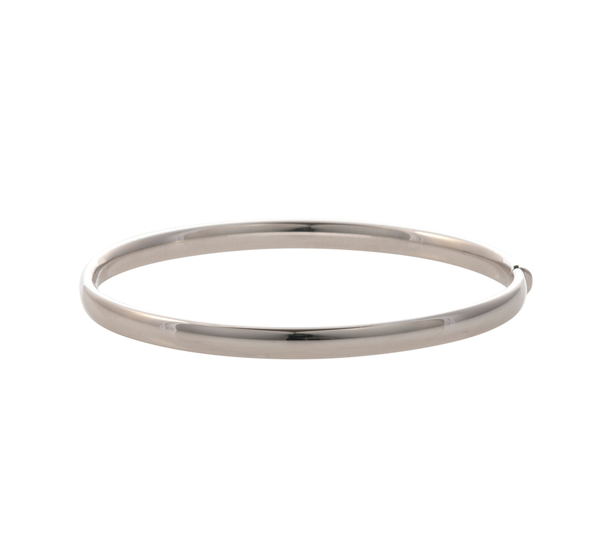 Italian 14K White Gold Bangle Bracelet