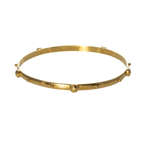 Mazza Hammered 14K Gold Bangle