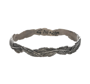 Grainger McKoy Narrow Feather Sterling Silver Bangle