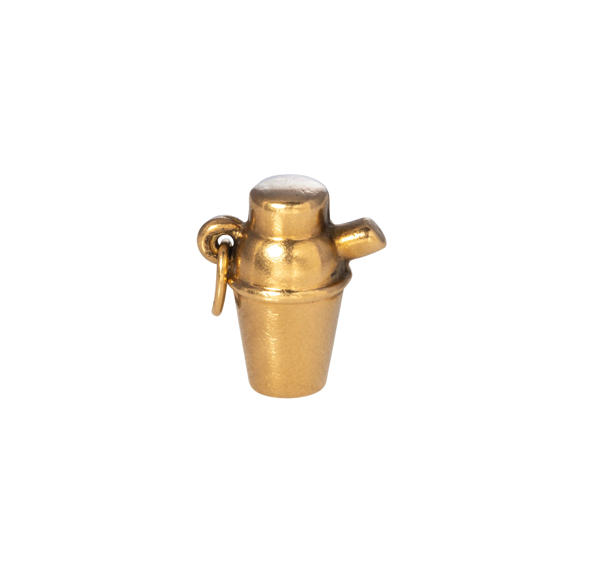 Estate 14K Gold Martini Shaker Charm