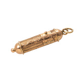 Estate 14K Gold Mezuzah Charm