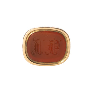 Victorian Carnelian & 14K Gold Watch Fob