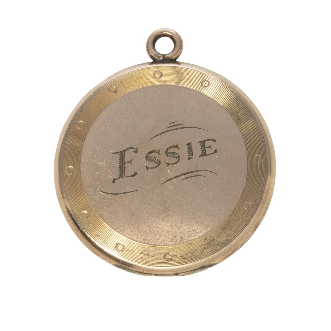 Estate Engraved Gold-Filled Round Locket