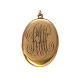 Estate Engraved Gold-Filled Oval Locket