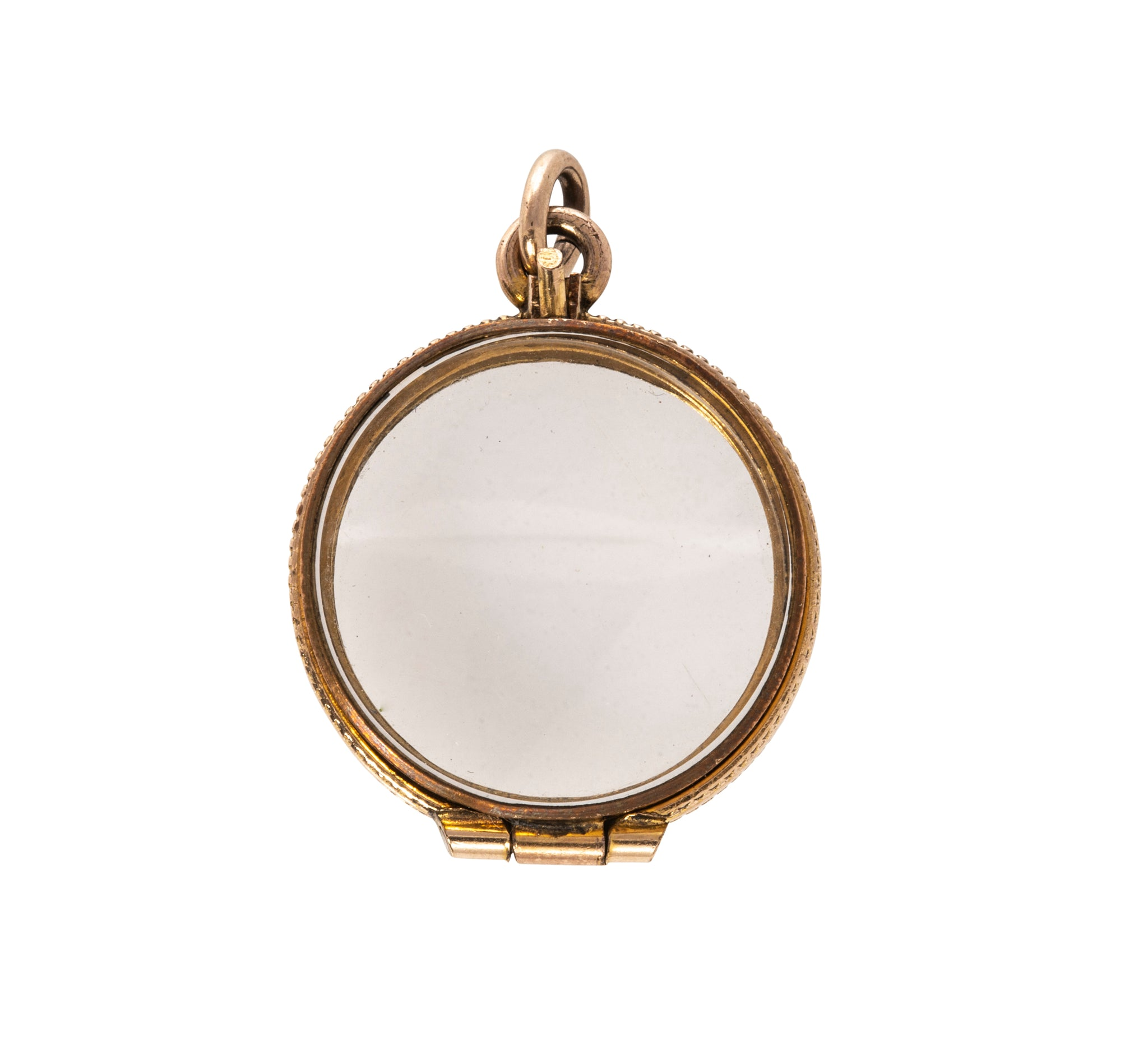 Victorian Crystal Gold-Filled Locket Fob