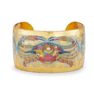 Color Crab Gold Leaf Cuff