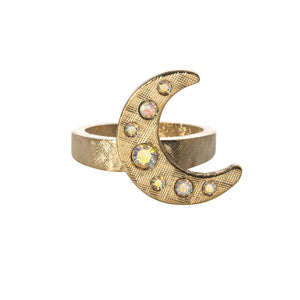 Goldbug Crescent Moon Ring