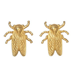Goldbug Stayin' Alive Clip Earrings
