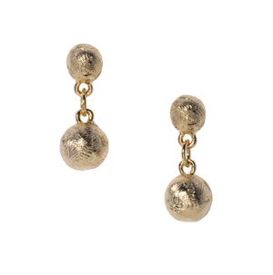 Goldbug Palmetto Textured Bead Short Drop Earrings