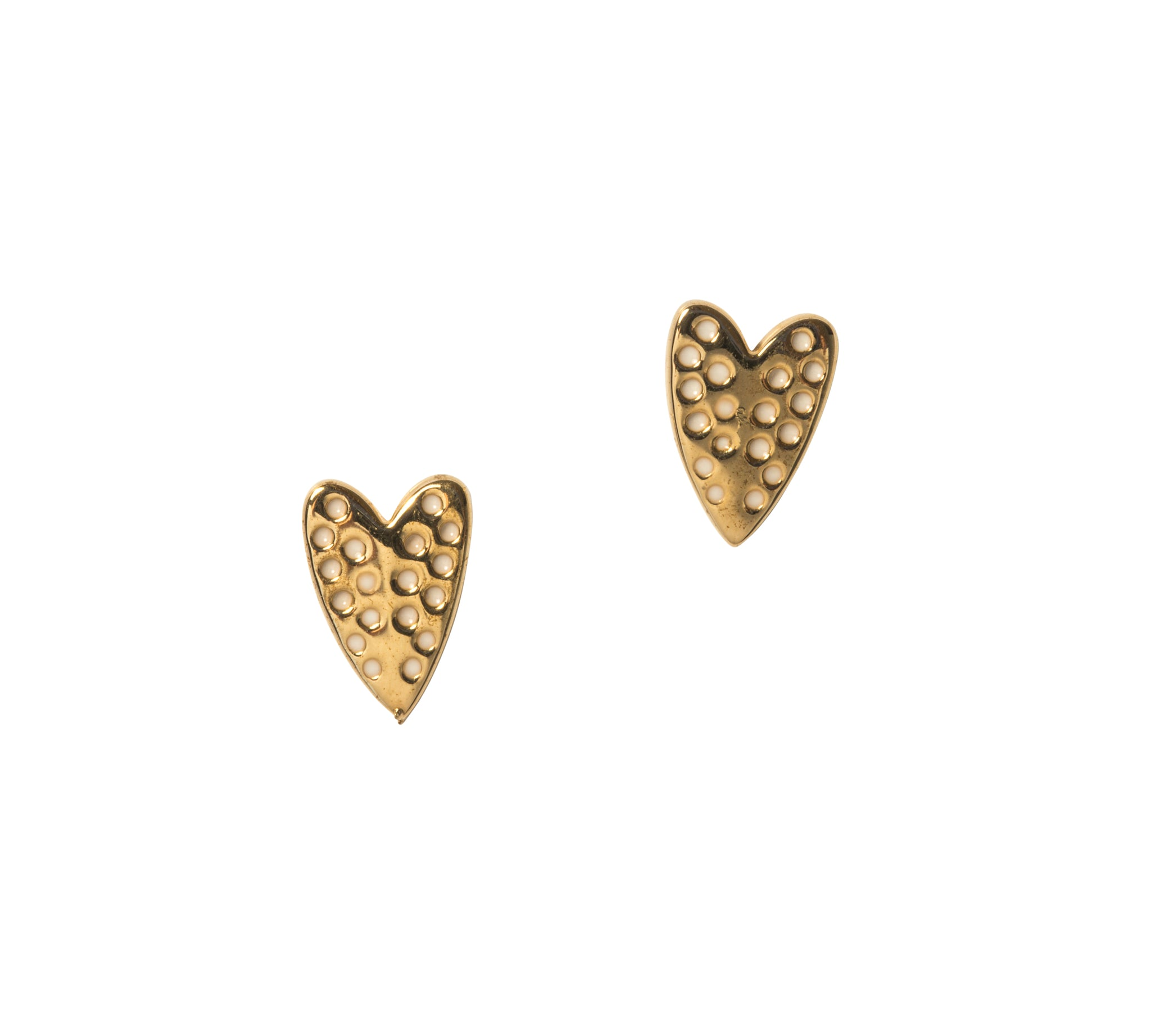 Goldbug Love On Top Heart Stud Earrings