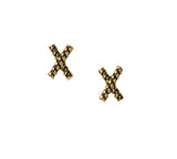 Goldbug Love On Top X Stud Earrings