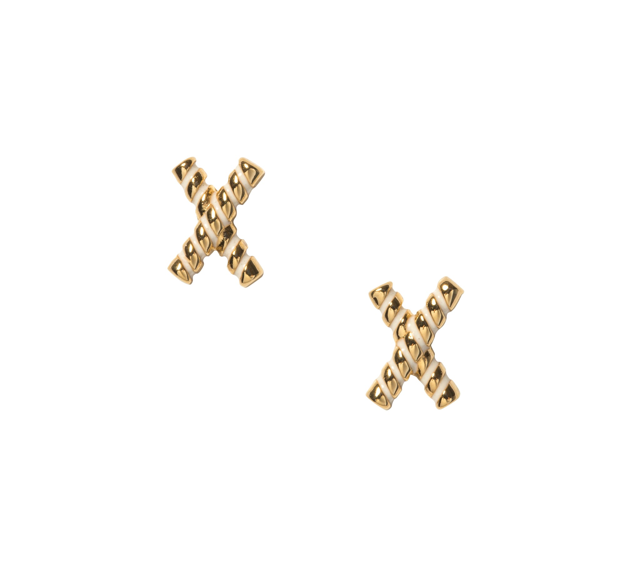 Goldbug Collection Love On Top X Stud Earrings