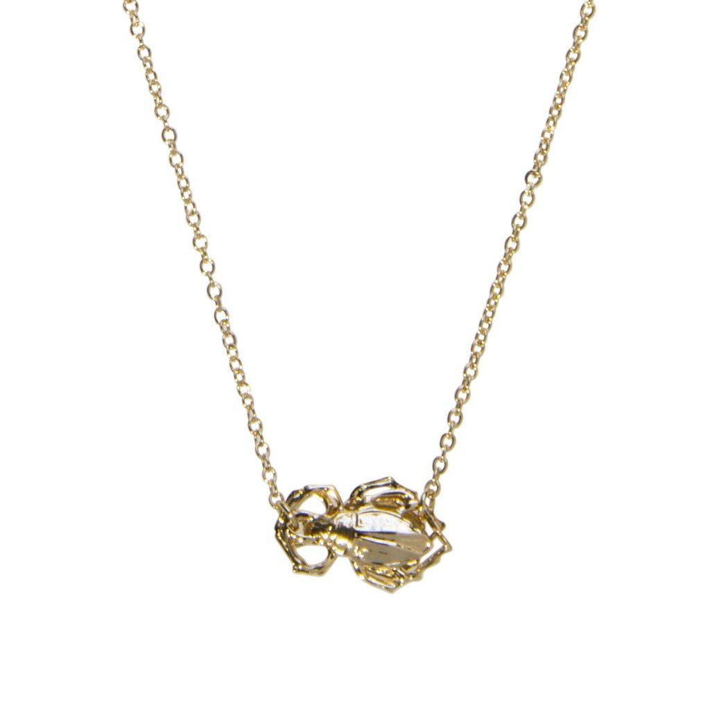 Goldbug Single Bug Necklace