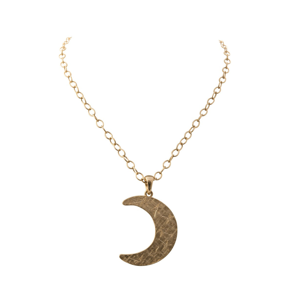 Goldbug Crescent Moon Pendant Necklace