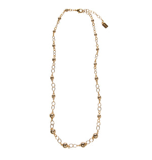 "Goldbug Palmetto Textured Bead 24"" Necklace"