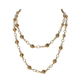 "Goldbug Palm Textured Bead 32"" Necklace"