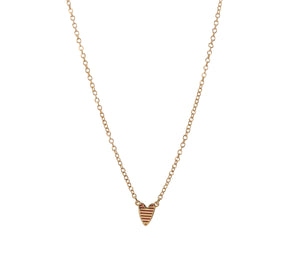 Goldbug Love On Top Heart Necklace