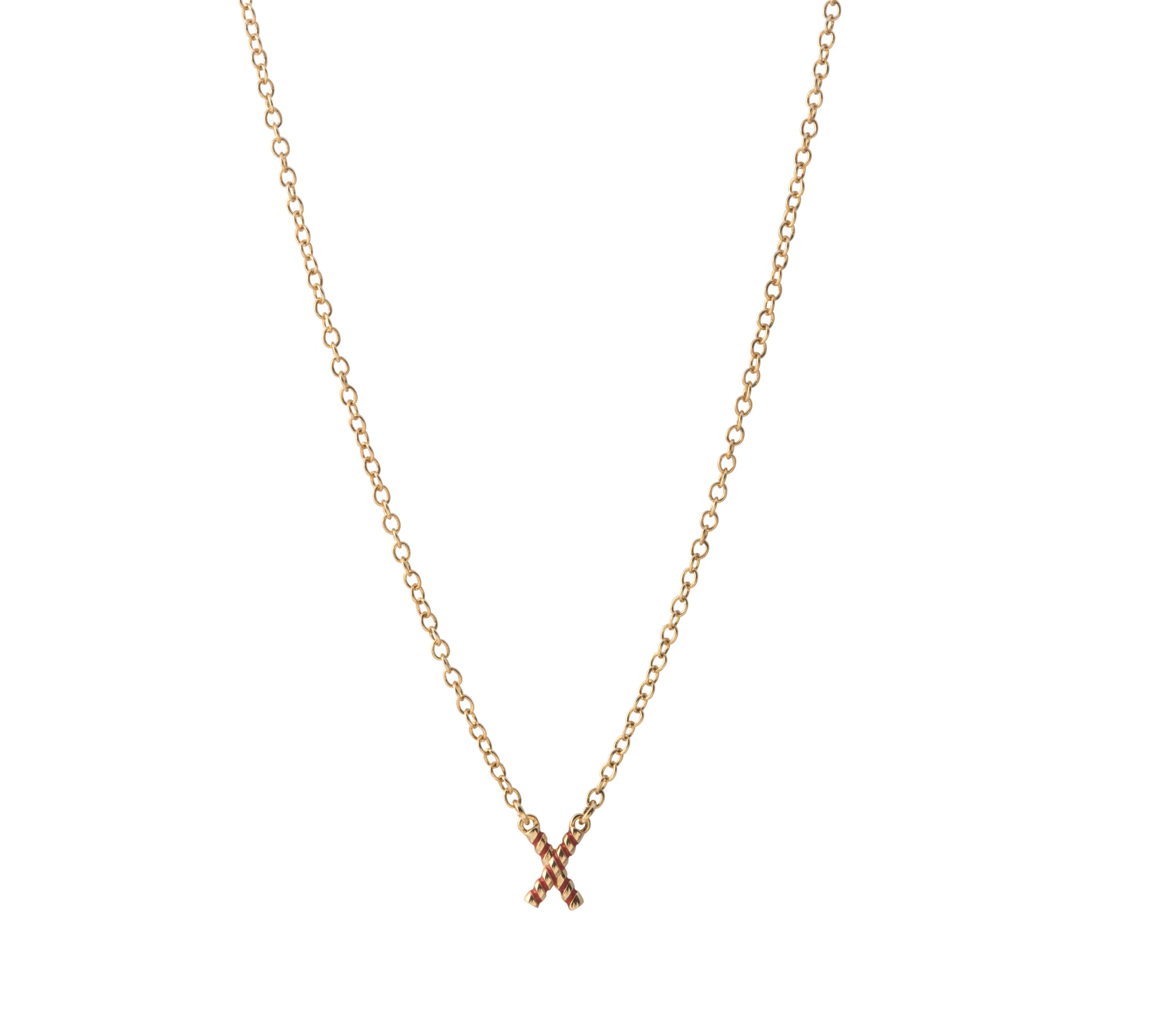 Goldbug Love On Top X Pendant Necklace