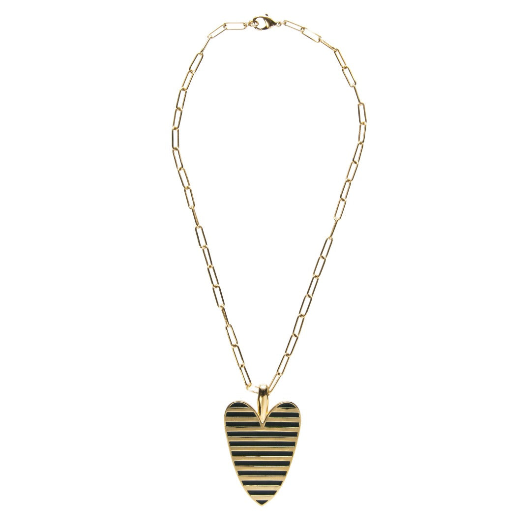 Goldbug Love On Top Heart Pendant Necklace