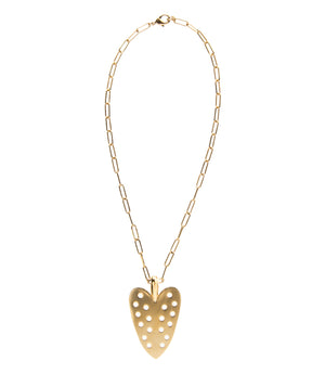 Goldbug Collection Love On Top Heart Pendant Necklace