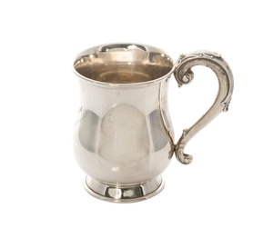 Antique Small Sterling Silver Tankard Mug