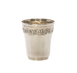 Antique French Sterling Silver Shot Glass