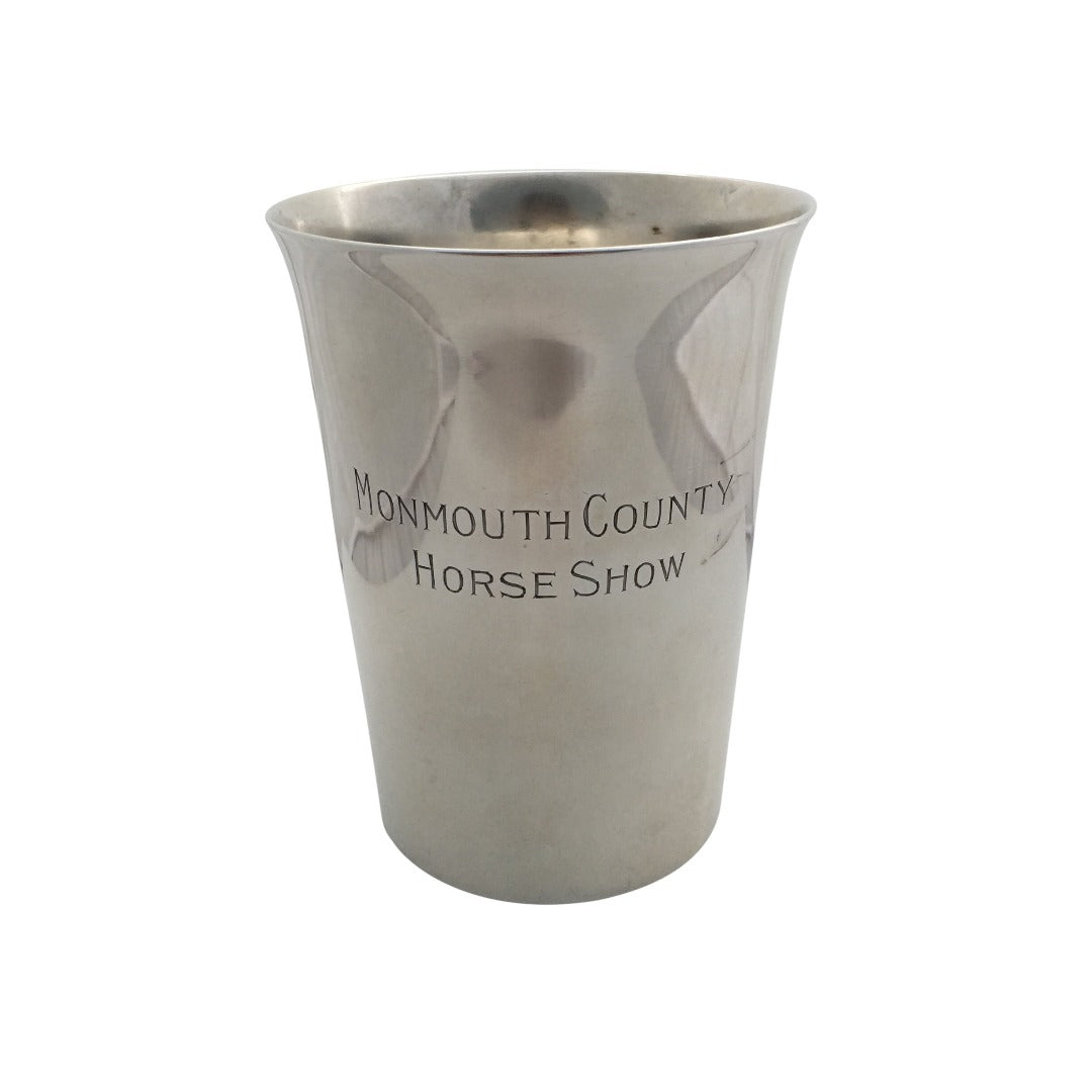 Estate Engraved Sterling Silver Tumbler