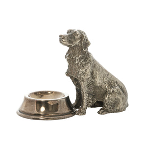 Estate Sterling Silver Retriever Salt Cellar