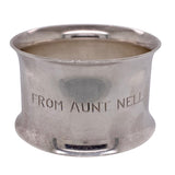 Estate Engraved Sterling Silver Napkin Ring