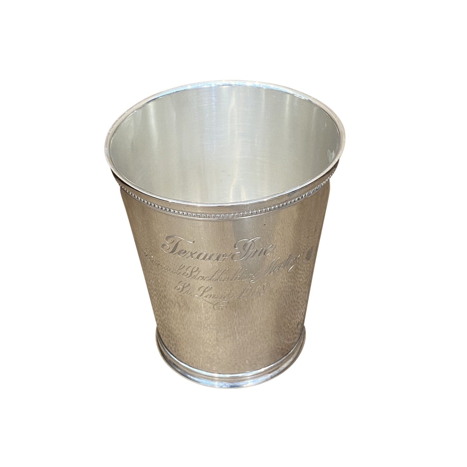 Estate Engraved Sterling Silver Julep Cup