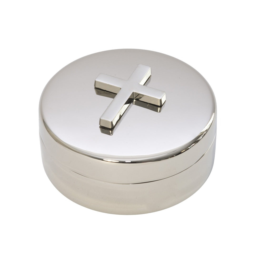 Round Keepsake Box with Cross